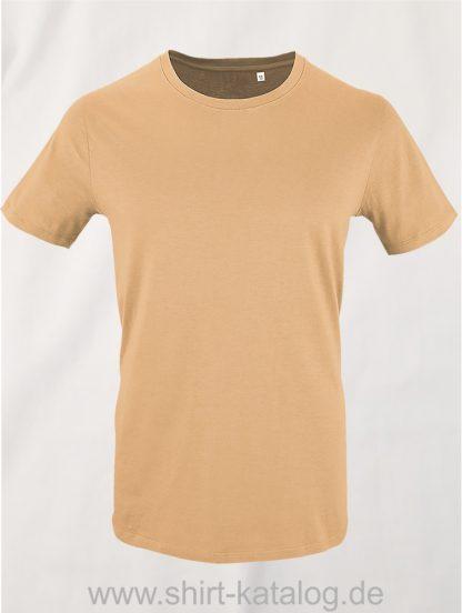 16823-Sols-Mens-Short-Sleeved-T-Shirt-Milo-Sand