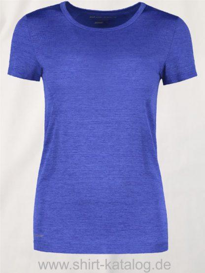 G11020-Woman-seamless-s-s-T-Shirt-königsblau-meliert-front