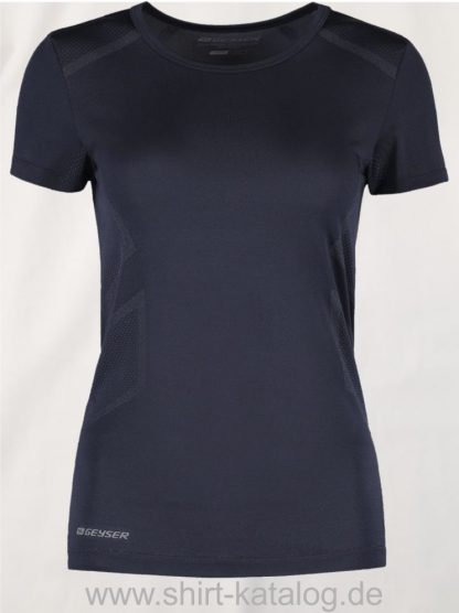 G11020-Woman-seamless-s-s-T-Shirt-navy-front
