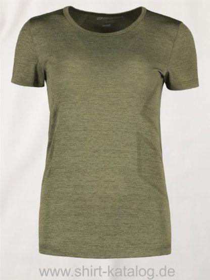 G11020-Woman-seamless-s-s-T-Shirt-oliv-meliert-front
