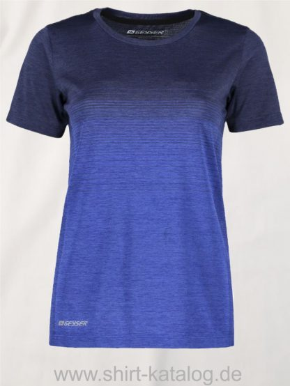 G11024-Woman-seamless-s-s-T-shirt-striped-navy-melange-front