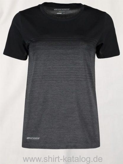 G11024-Woman-seamless-s-s-T-shirt-striped-schwarz-front
