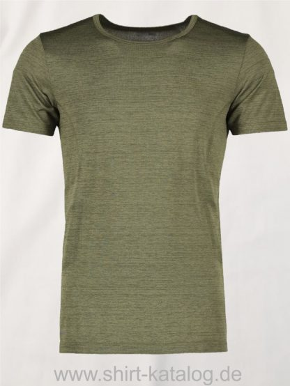 G21020-Man-seamless-s-s-T-Shirt-oliv-meliert-front