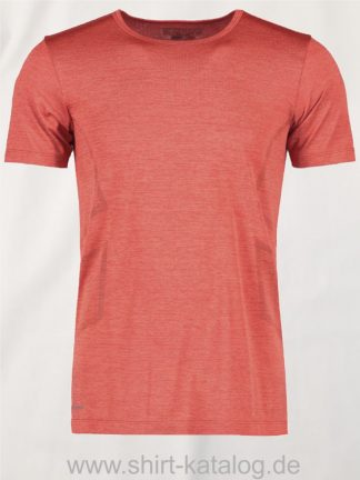G21020-Man-seamless-s-s-T-Shirt-rot-meliert-front