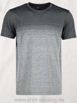 G21024-Man-seamless-s-s-T-shirt-striped-anthracite-melange-front