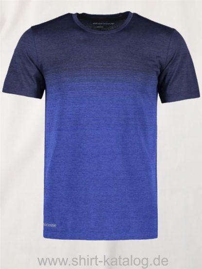 G21024-Man-seamless-s-s-T-shirt-striped-navy-meliert-front