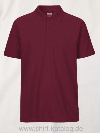 11127-Neutral-Mens-Classic-Polo-bordeaux