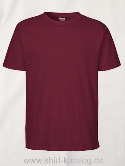 11131-Neutral-Unisex-Regular-T-Shirt-bordeaux