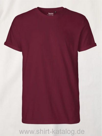 11132-Neutral-Mens-Roll-Up-Sleeve-T-Shirt-bordeaux