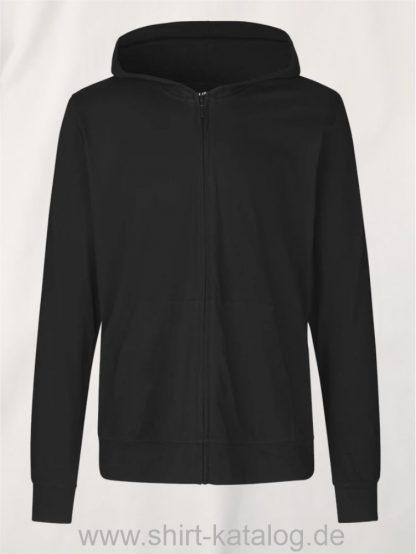 11137-Neutral-Unisex-Jersey-Hoodie-with-Zip-black