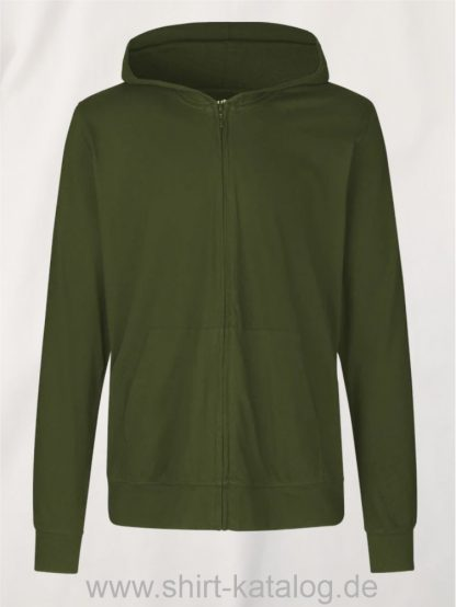 11137-Neutral-Unisex-Jersey-Hoodie-with-Zip-military