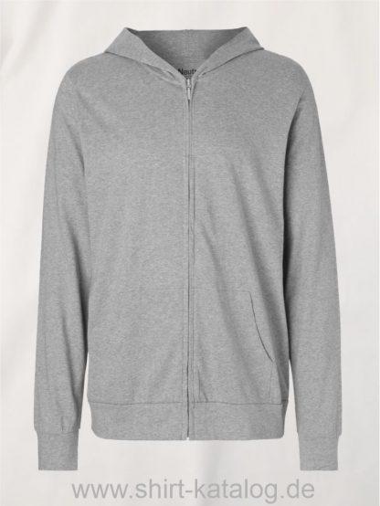 11137-Neutral-Unisex-Jersey-Hoodie-with-Zip-sports-grey