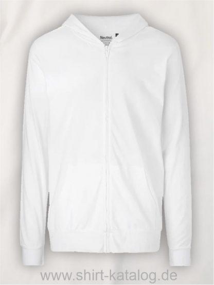 11137-Neutral-Unisex-Jersey-Hoodie-with-Zip-white