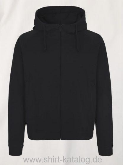 11139-Neutral-Unisex-Hoodie-with-Hidden-Zip-black