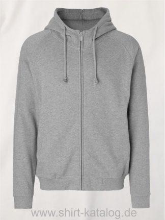 11139-Neutral-Unisex-Hoodie-with-Hidden-Zip-sports-grey