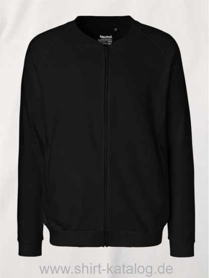11145-Neutral-Unisex-Jacket-with-Zip-black