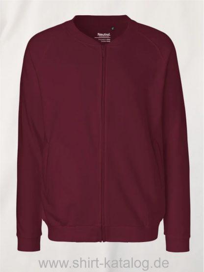 11145-Neutral-Unisex-Jacket-with-Zip-bordeaux