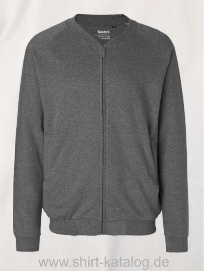 11145-Neutral-Unisex-Jacket-with-Zip-dark-heather