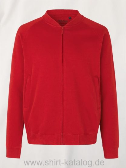 11145-Neutral-Unisex-Jacket-with-Zip-red