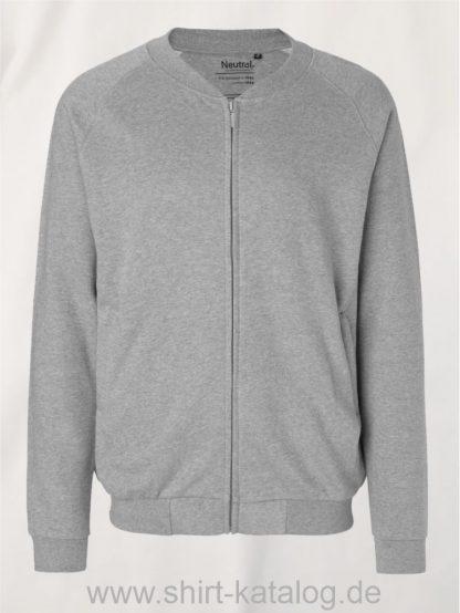 11145-Neutral-Unisex-Jacket-with-Zip-sports-grey