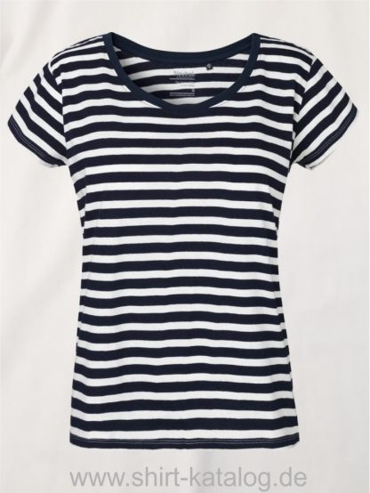 11149-Neutral-Ladies-Loose-Fit-T-Shirt-white-navy-striped