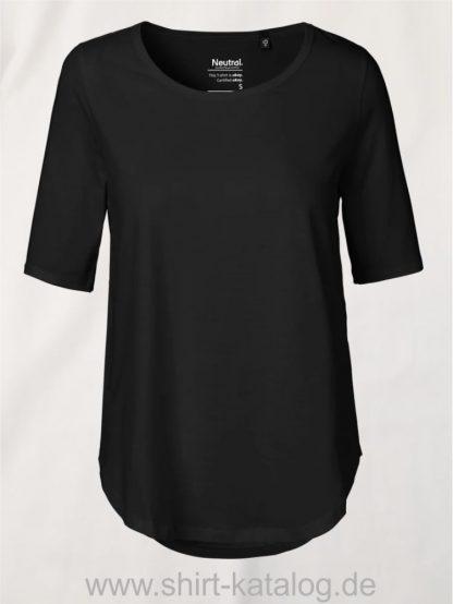 11150-Neutral-Ladies-Half-Sleeve-T-Shirt-black