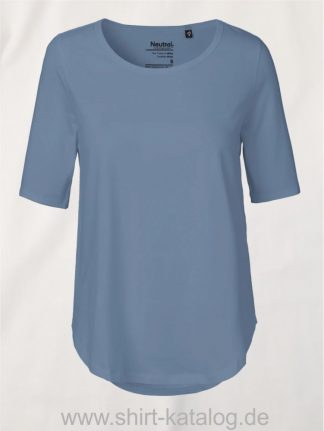 11150-Neutral-Ladies-Half-Sleeve-T-Shirt-dusty-indigo