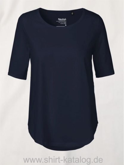 11150-Neutral-Ladies-Half-Sleeve-T-Shirt-navy