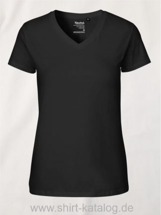 11151-Neutral-Ladies-V-Neck-T-Shirt-black