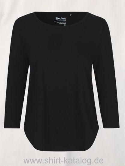 11152-Neutral-Ladies-Three-Quarter-Sleeve T-Shirt-black