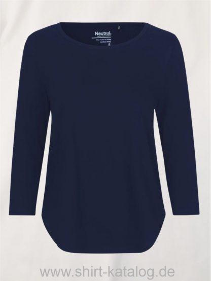 11152-Neutral-Ladies-Three-Quarter-Sleeve T-Shirt-navy