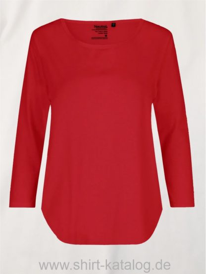 11152-Neutral-Ladies-Three-Quarter-Sleeve T-Shirt-red