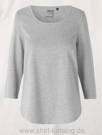 11152-Neutral-Ladies-Three-Quarter-Sleeve T-Shirt-sports-grey