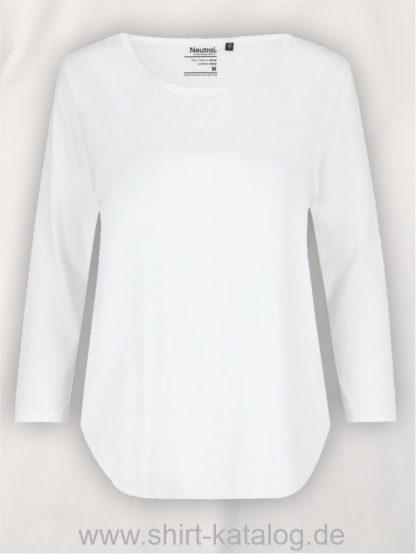11152-Neutral-Ladies-Three-Quarter-Sleeve T-Shirt-white