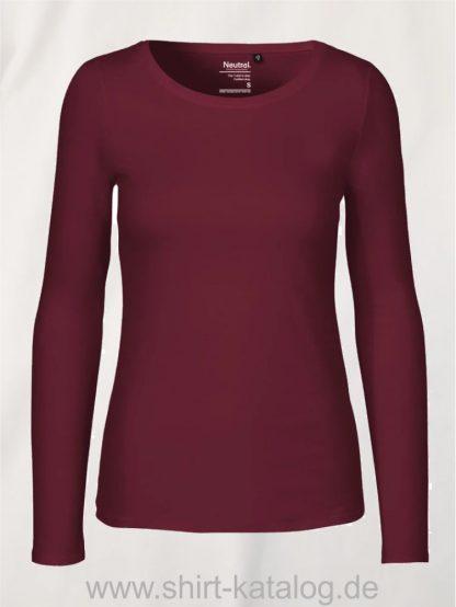 11157-Neutral-Ladies-Long-Sleeve-T-Shirt-Bordeaux