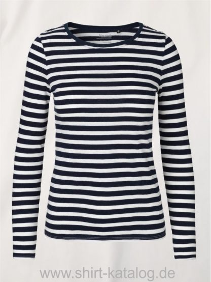 11157-Neutral-Ladies-Long-Sleeve-T-Shirt-White-Navy-Striped