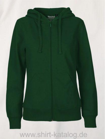 11160-Neutral-Ladies-Zip-Hoodie-bottle-green