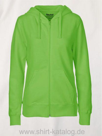 11160-Neutral-Ladies-Zip-Hoodie-lime