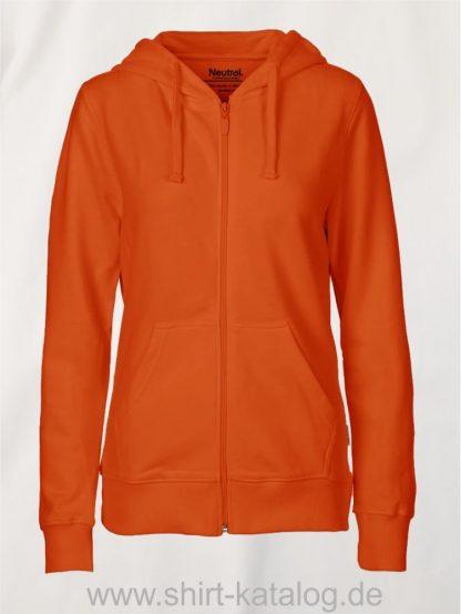 11160-Neutral-Ladies-Zip-Hoodie-orange