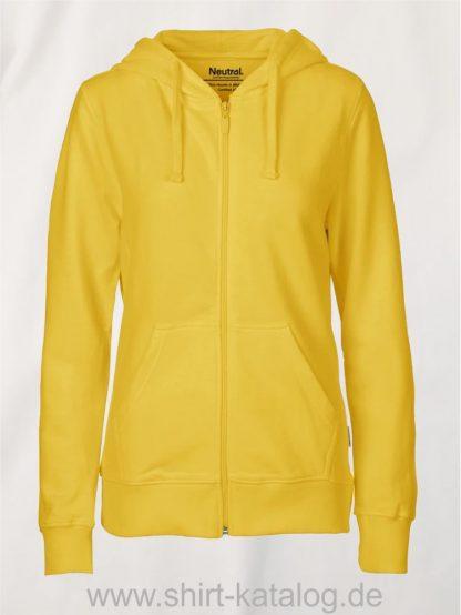 11160-Neutral-Ladies-Zip-Hoodie-yellow