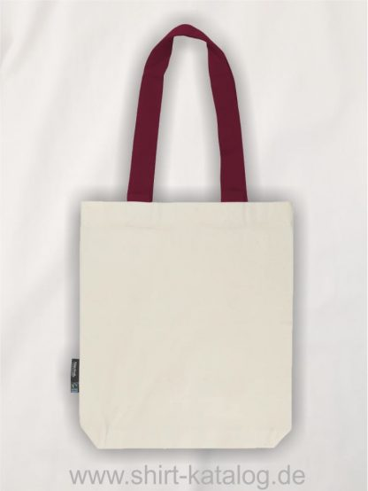11161-Neutral-Twill-Bag-with-Contrast-Handles-nature-bordeaux