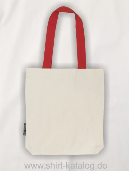 11161-Neutral-Twill-Bag-with-Contrast-Handles-nature-red