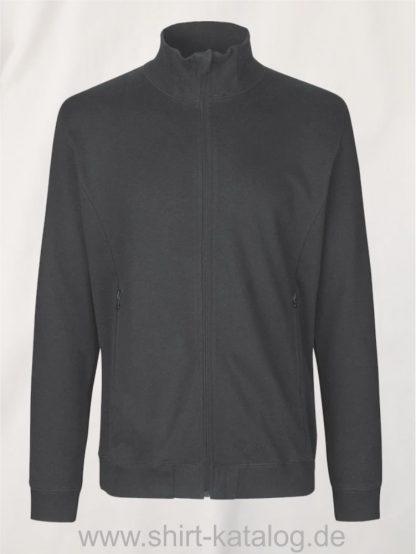 12619-Neutral-Unisex-High-Neck-Jacket-charcoal