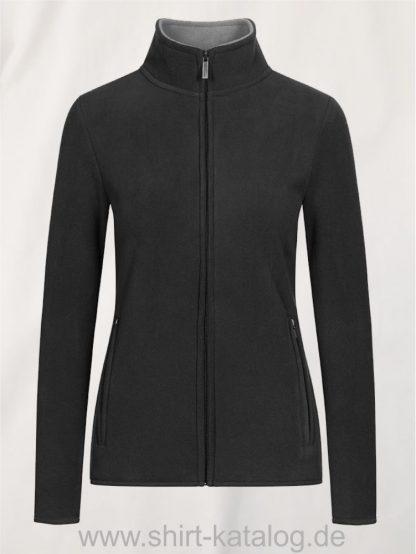 Womens-Double-Fleece-Jacket-charcoal-gray