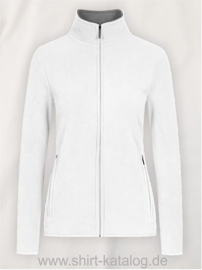 Womens-Double-Fleece-Jacket-white-new-l-grey