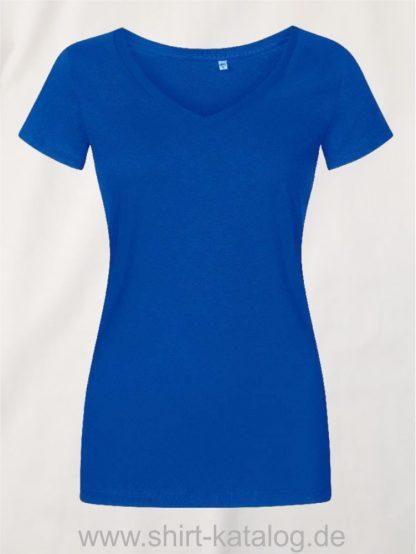 X-O-V-Neck-T-Shirt-Women-azure-blue