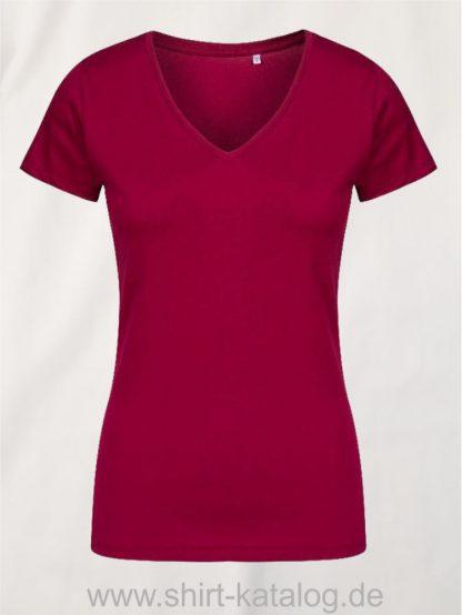 X-O-V-Neck-T-Shirt-Women-berry