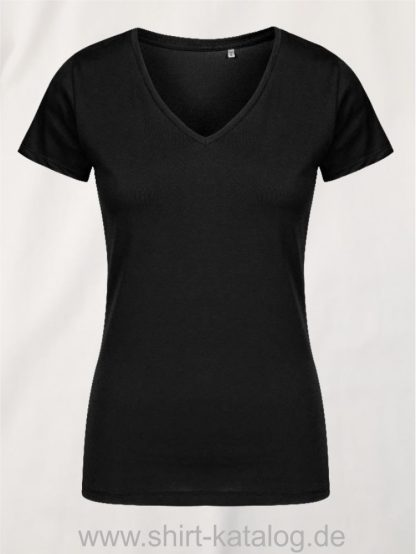 X-O-V-Neck-T-Shirt-Women-black