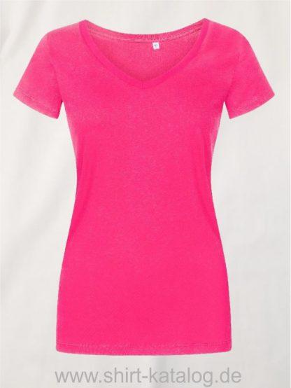 X-O-V-Neck-T-Shirt-Women-bright-rose