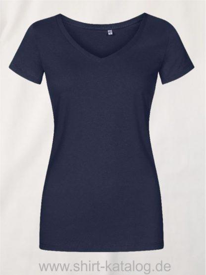 X-O-V-Neck-T-Shirt-Women-french-navy
